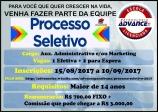Processo Seletivo - Escola Advance Paraibuna